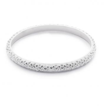 White Crystallized Swarovski Bangle