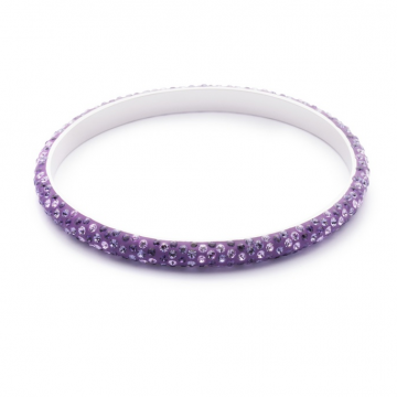 Purple Crystallized Swarovski Bangle