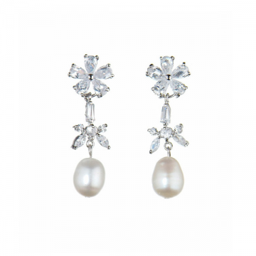 Delicate Pearl Earrings