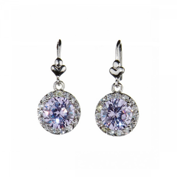 Grandeur Lilac Earrings