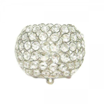 Crystal Ball Tea Light Candle Holder