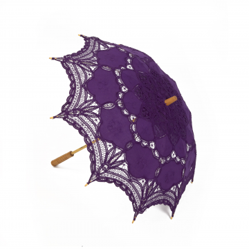 Purple Lace Parasol