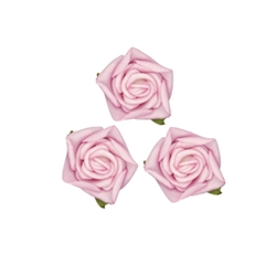 Small Rose Head Pink Flowers 24pcs