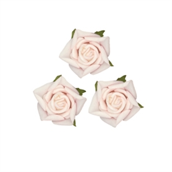 Small Rose Head Pale Pink Flowers 24pcs