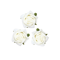 Small Rose Head White Flowers 24pcs