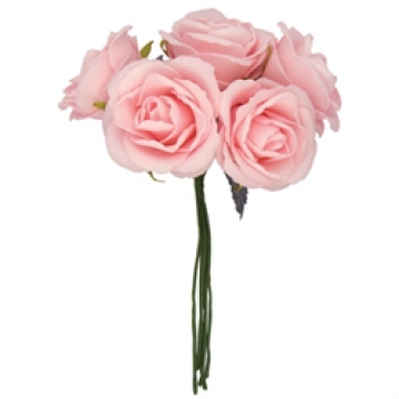 Light Pink Foam Rose Head Bunch