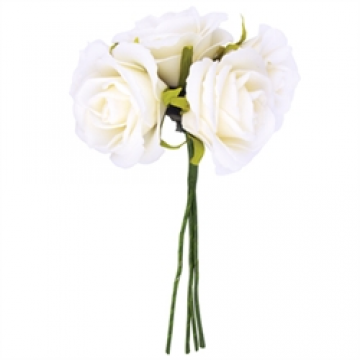 White Foam Rose Head Bunch