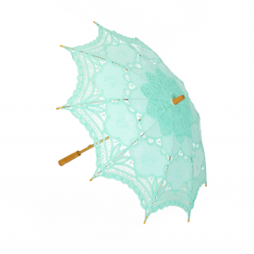 Pastel Green Lace Parasol
