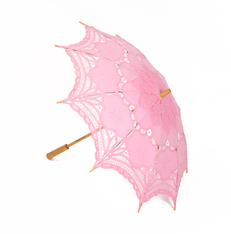 Pink Lace Parasol - Dabble InDesign
