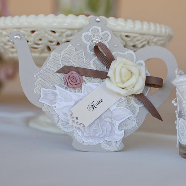 Delightful Teapot Wedding Invitations Sydney Dabble Indesign