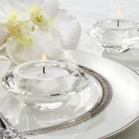 Crystal Diamond-Shaped Tea Light Holder (Set of 4)