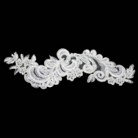 Beaded Lace Motif White