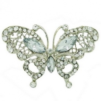 Butterfly Diamonte Brooch- Large