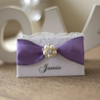 Vintage Rose Name Place Card