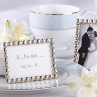 Silver Pearls Mini Photo Frame