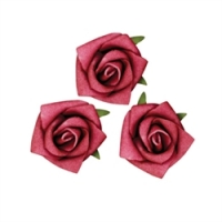 Rose Head Red Flowers 15pcs