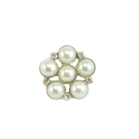 Pearl and Diamante Embellishment- Small