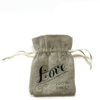 Mini Linen Drawstring Pouch Pack of 12