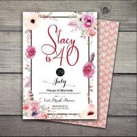 Boho Goddess Birthday Invitation