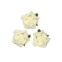 Small Rose Head Off White Flowers 24pcs